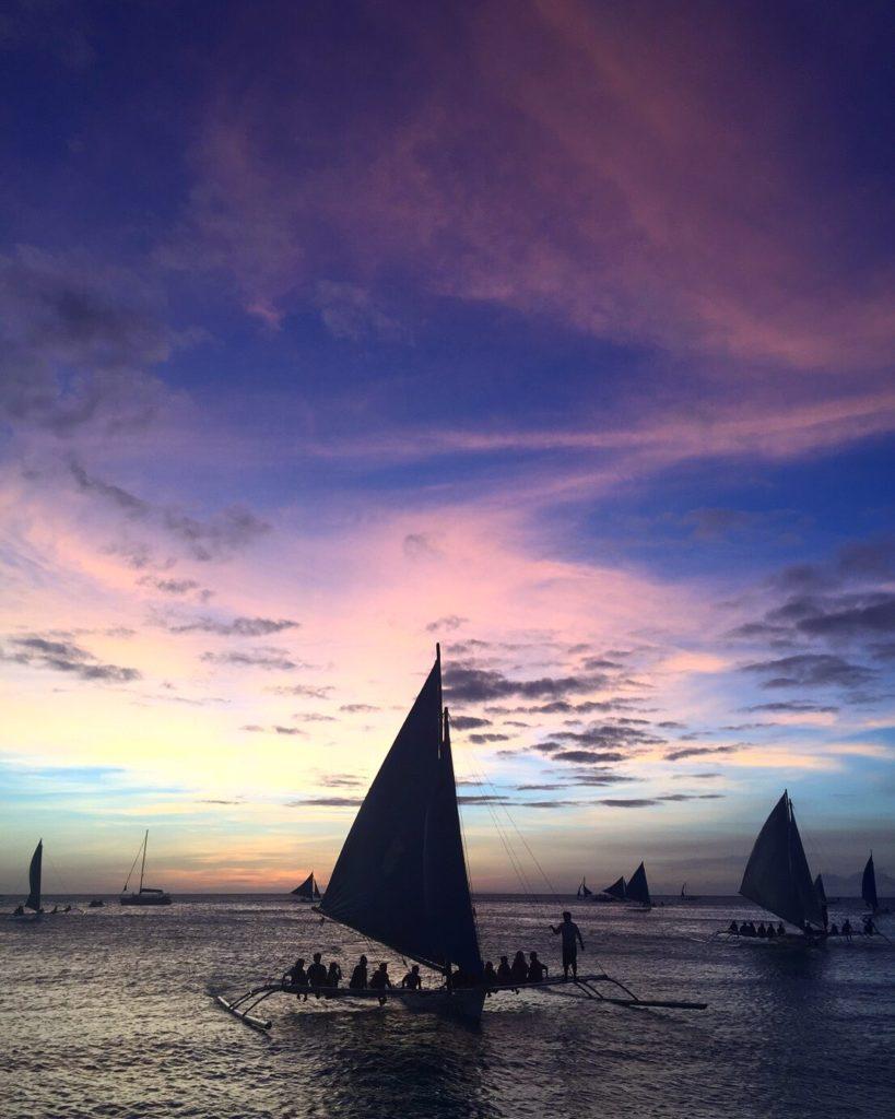 本当に美しいボラカイ島のサンセット・・・