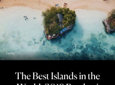 ボラカイ島は No.1アイランド に選ばれました!2019